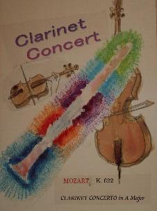 ポスターづくり clarinet conncert