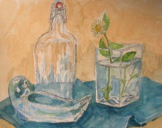 ガラスの容器を描く