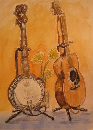 ギターとバンジョウ (314x440)