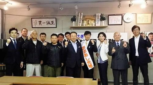 『おおあし光司』高萩市議候補 応援へ!