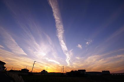 151026柏市 放射状雲の夕焼