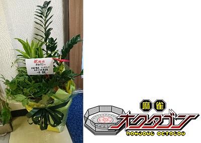 ★祝い花とロゴ
