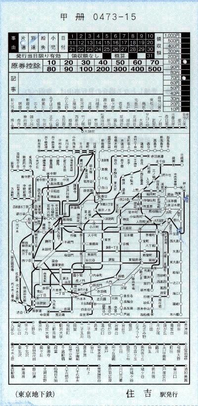 住吉→錦糸町(地図式補充券)