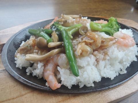 中華海鮮あんかけご飯③
