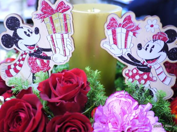 ディズニー アレンジメント「ミッキー&ミニー キャンドルナイト」