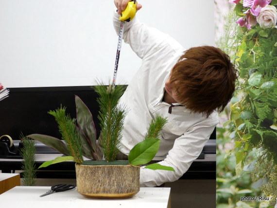 日比谷花壇アレンジメンが出来るまで