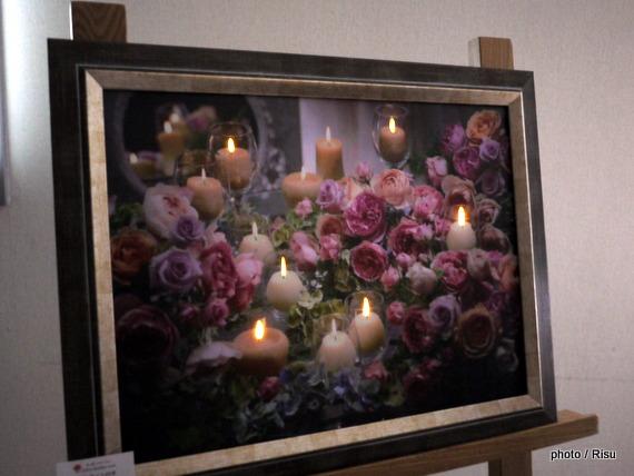 LEDライト付きフレームアート「ロゼパンテュール」