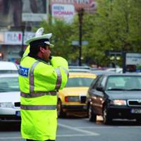 交差点の警官