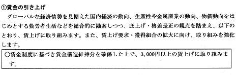 25 金属労協 16春闘3000円以上