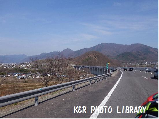 4月12日上信越道下り上田市上田ローマン橋