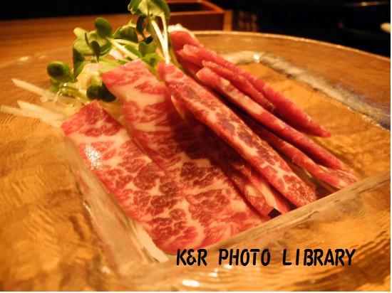 4月18日桜肉のお刺身