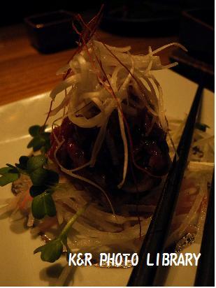 4月18日桜肉のねぎ塩ユッケ