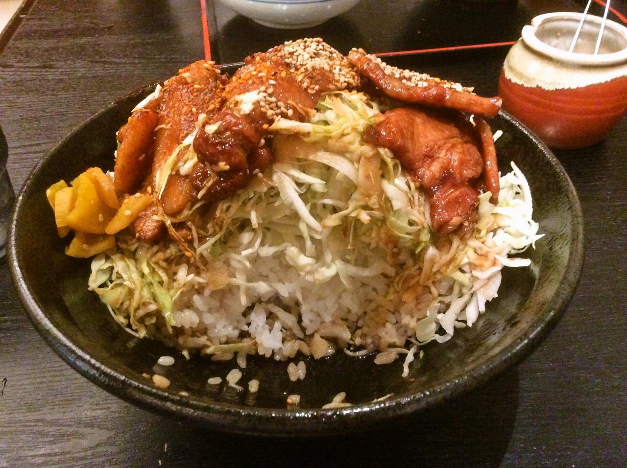 里のうどん大崎店(バラ丼特盛)