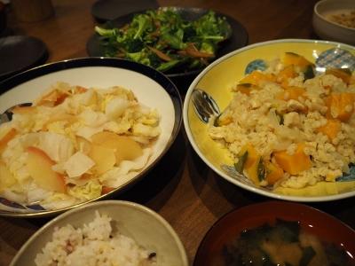 31押し麦カボチャ夕食_R