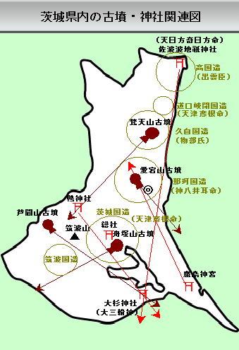 112話茨城県内の古墳神社関連図