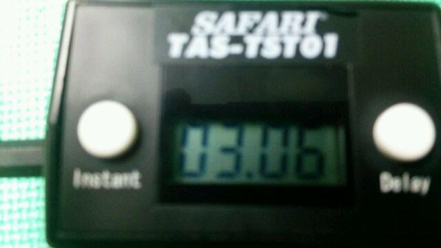 5Mベスト!3.06秒!