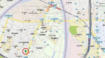 泉尾ハイツ地図
