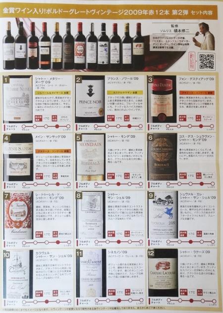 ワインのリスト
