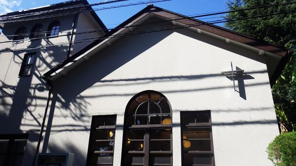 「東京若葉キリスト教会」道路側面