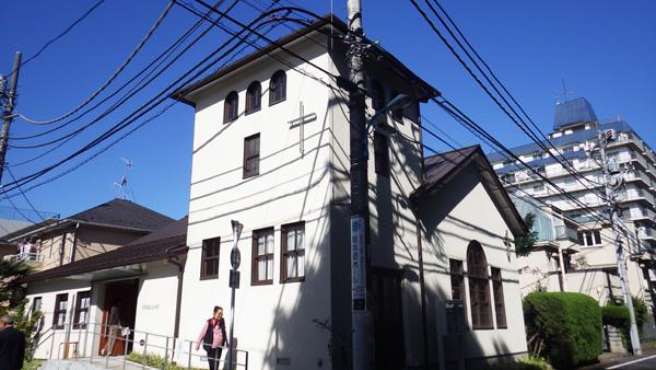 「東京若葉キリスト教会」入り口側 外観
