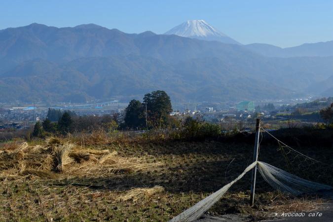 棚田から富士山3
