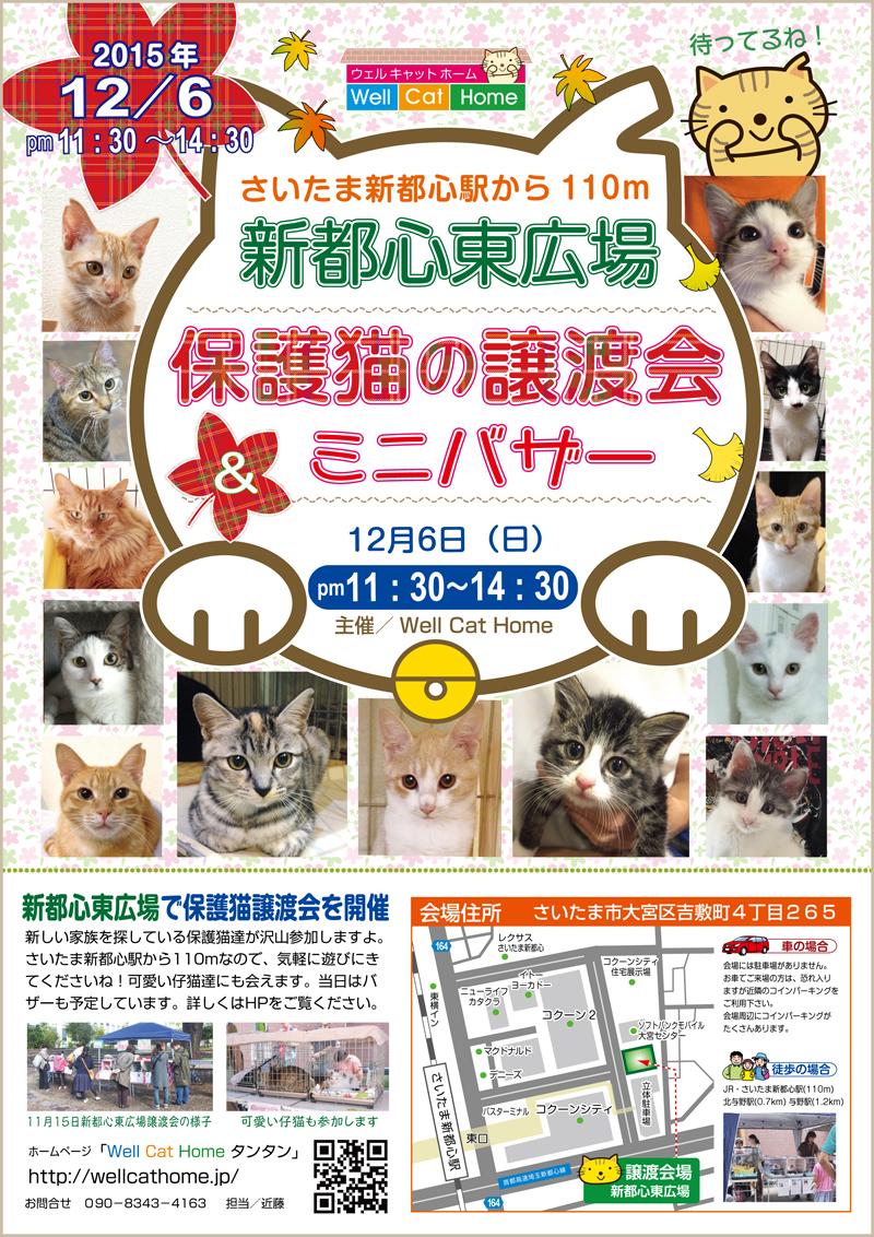 12月6日(日)11時半~新都心東広場 譲渡会チラシ