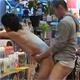 レンタルビデオ店に全裸でやってきたノンケに興奮し店内でハメまくるゲイ店員