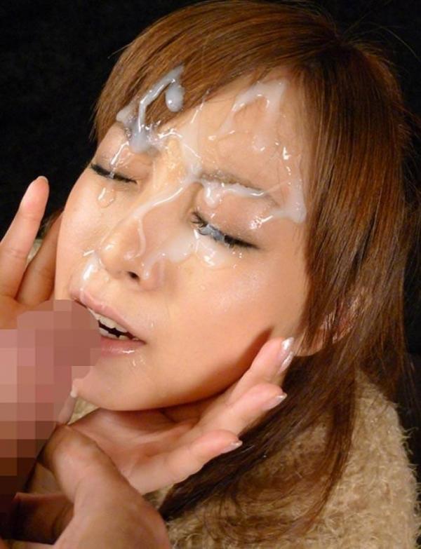 大量ぶっかけ顔射画像 6