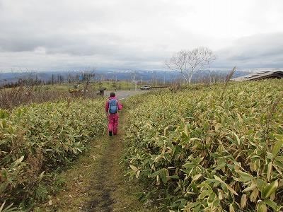摩周湖第一展望台登山道登山口帰路