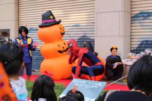 甲府ハロウィン 仮装コンテスト スパイダーマン