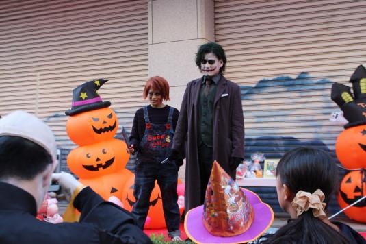 甲府ハロウィン 仮装コンテスト ジョーカーとチャッキー