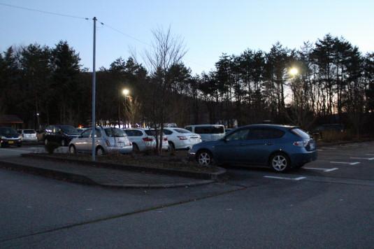 イルミ 花の都公園 駐車場