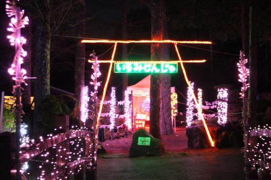 イルミ 花の都公園 神社