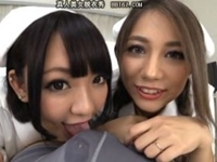 上原花恋×HIKARI 最強Wキャスト痴女がタッグを組んでM男を逆3P責めしまくり!