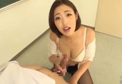 新任女教師のヨロシク淫語責め寸止め手コキ!水野朝陽2