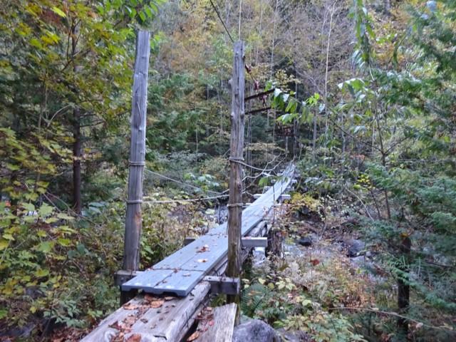 10月17日 北沢(6合目)の吊橋