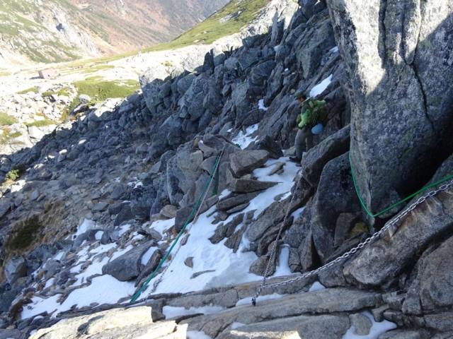10月24日 宝剣岳は岩場登り