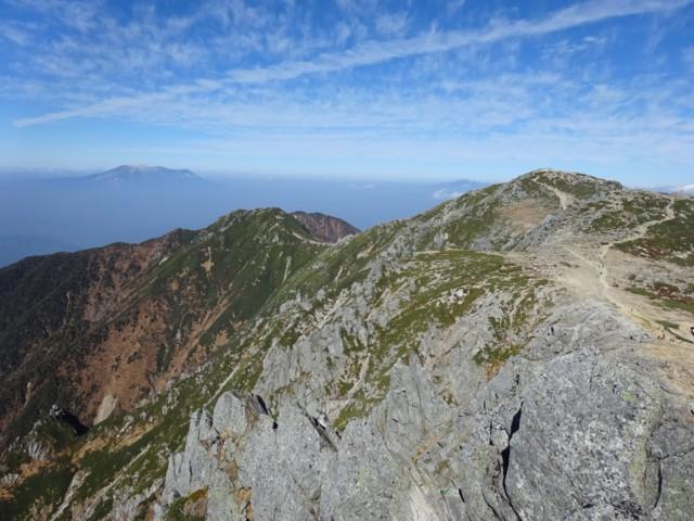 10月24日 北側.右が木曽駒.