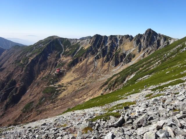 10月24日 伊那前岳から見た千畳敷カール