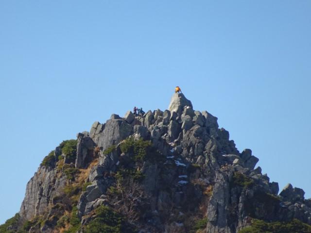 10月24日 さっき登った宝剣岳