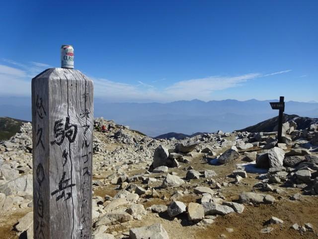 10月24日 西駒ケ岳から東駒ケ岳を望む