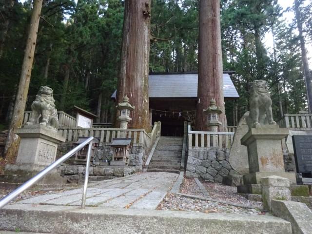 11月1日 山麓の恵那神社本宮
