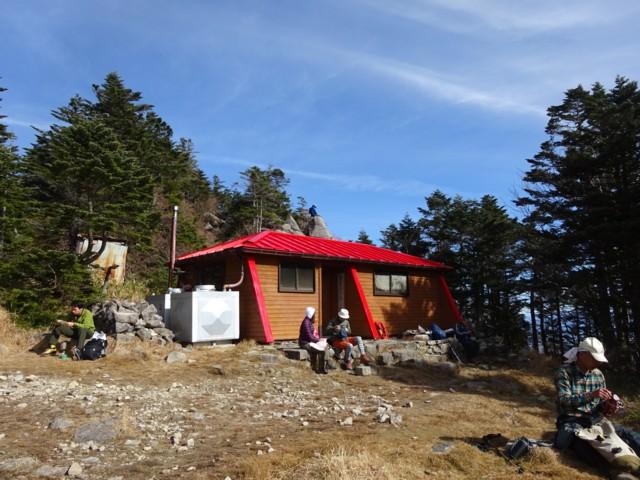 11月1日 山頂小屋