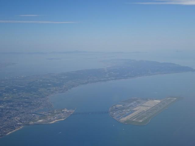 11月7日 飛行機から知多半島