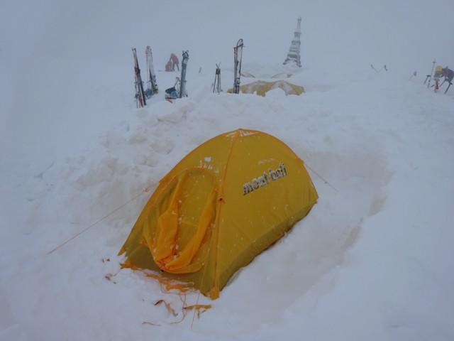 11月28日 室堂着いたら早速テント