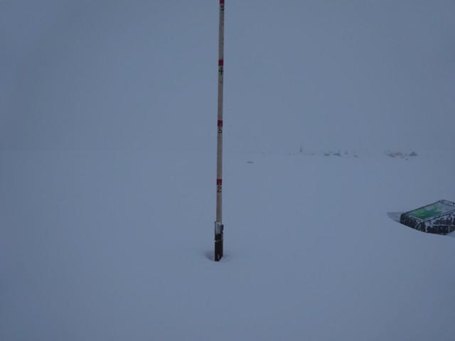 11月28日 室堂平は積雪1m程度
