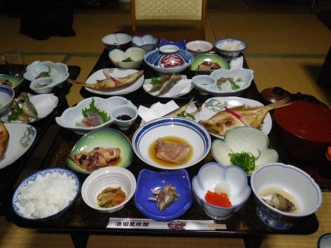 酒田屋旅館 夕食 2015