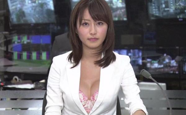 巨乳女子アナウンサーの着衣巨乳画像15