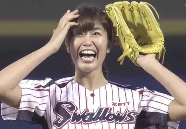 神スイングの稲村亜美が体操服コスエロ画像16