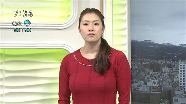 巨乳女子アナウンサーの着衣巨乳画像8